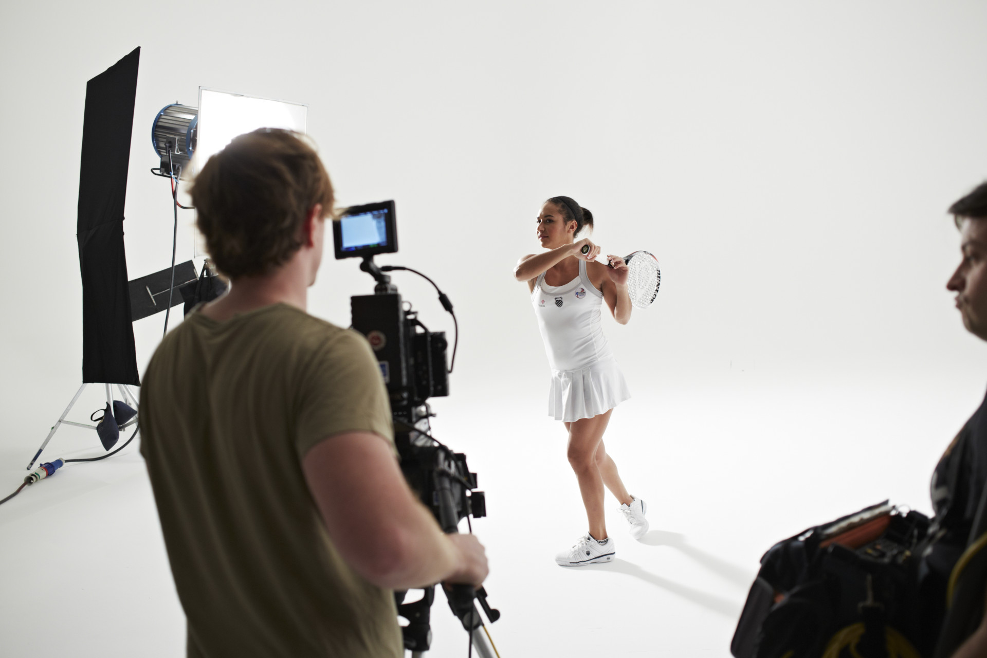 753A3074-Britsh Tennis No.1 Heather Watson at the filming of Heroes of Tomorrow video for Statoil-December 2012